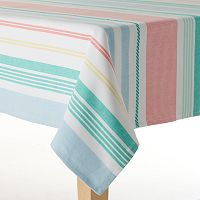 Celebrate Local Life Together Woven Stripe Tablecloth