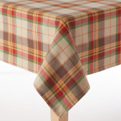 Celebrate Local Life Together Plaid Tablecloth