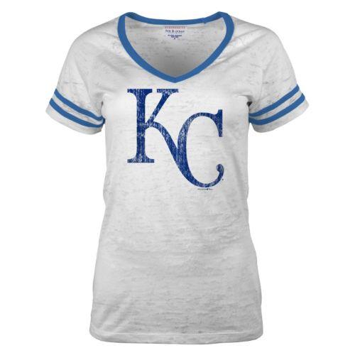 Women's 5th & Ocean Kansas City Royals Burnout Tee