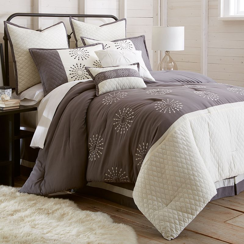 Vida Embroidered 8-piece Bed Set