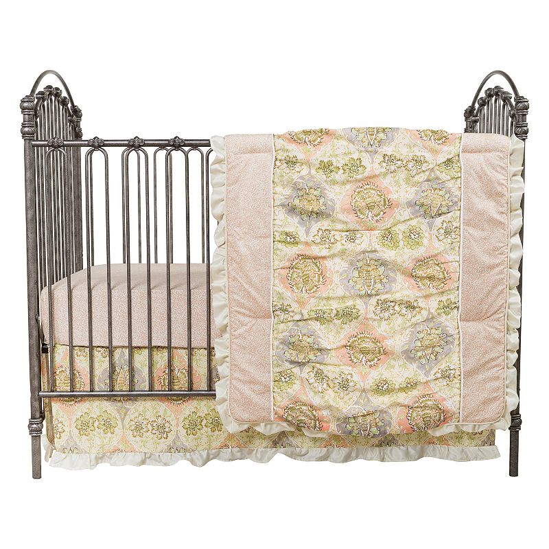 Waverly Baby Rosewater Glam 3-pc. Crib Bedding Set by Trend Lab