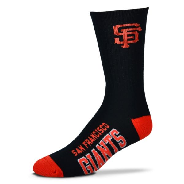 Adult For Bare Feet San Francisco Giants Team Color Crew Socks