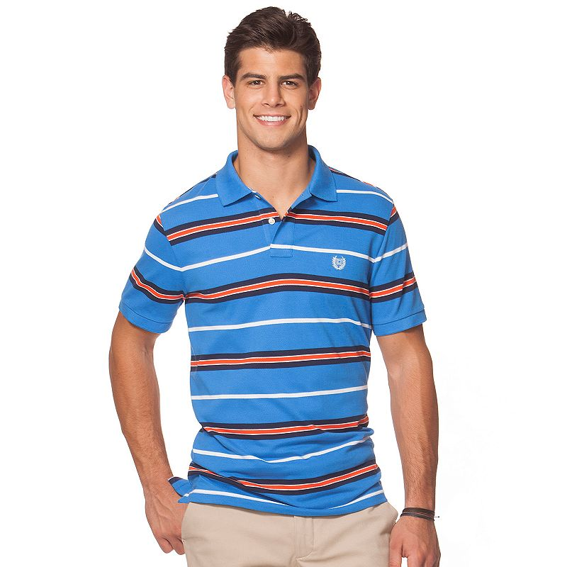 Big & Tall Chaps Striped Polo