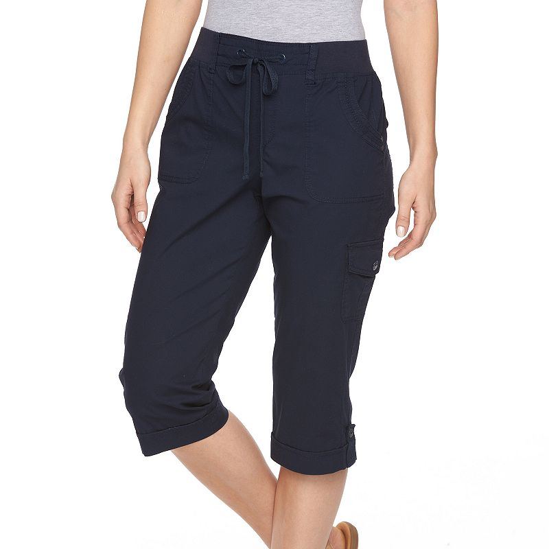 Women's Gloria Vanderbilt Pull-On Twill Capris