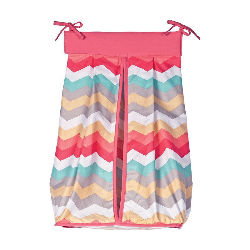 Waverly Baby Pom Pom Chevron Diaper Stacker by Trend Lab