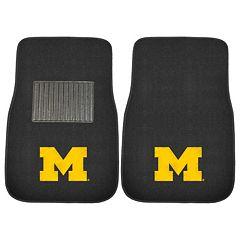 FANMATS Michigan Wolverines 2-Piece Car Floor Mat Set