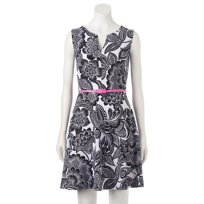 Petite Suite 7 Floral Fit & Flare Dress