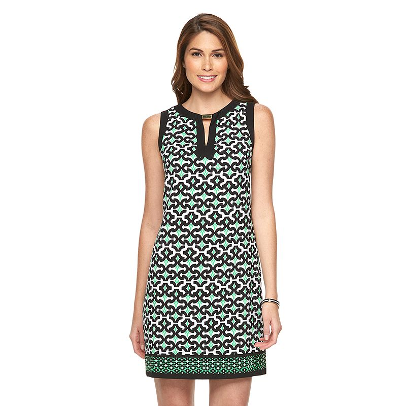 Petite Suite 7 Abstract Print Shift Dress