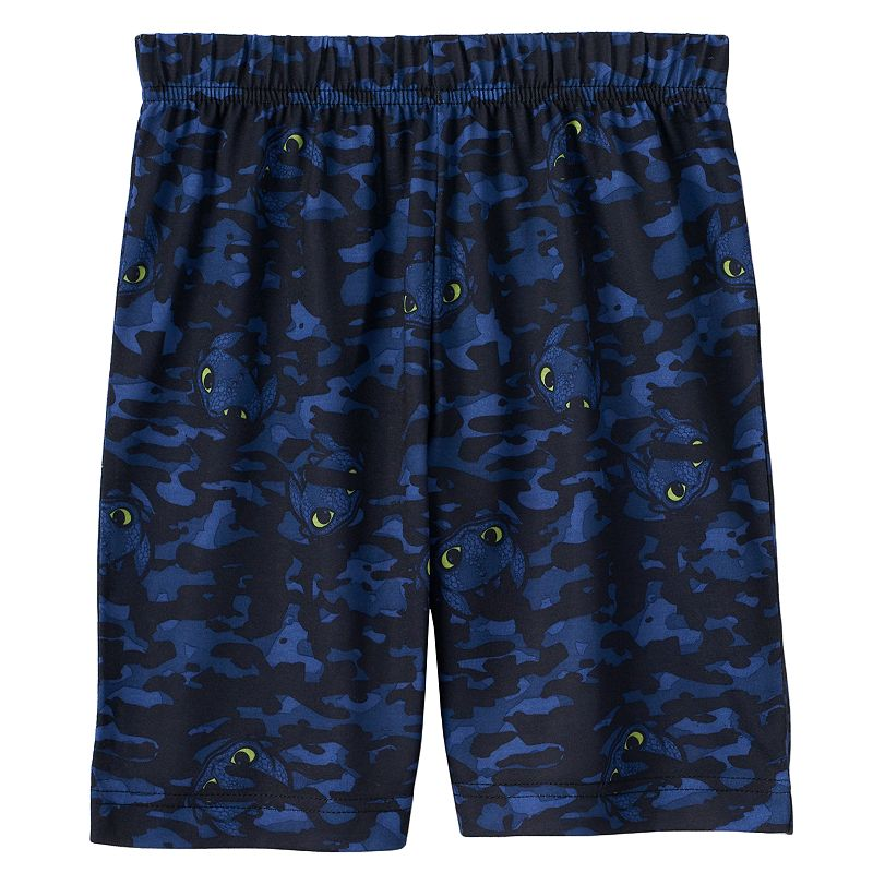 Boys 4-12 Dreamworks How To Train Your Dragon 2 Night Fury Camo Lounge Shorts