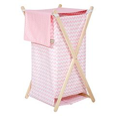 Trend Lab Pink Sky Chevron Hamper  by