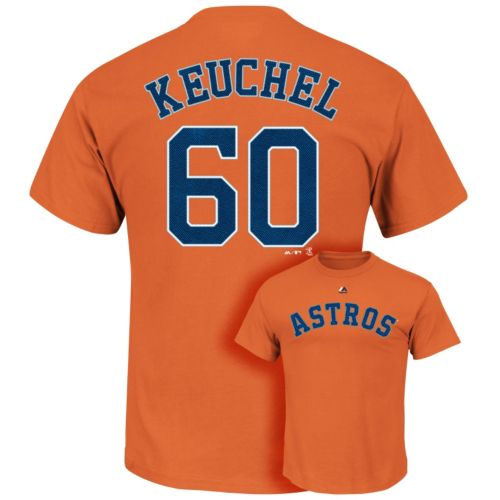 Men's Majestic Houston Astros Dallas Keuchel Player Name and Number Tee
