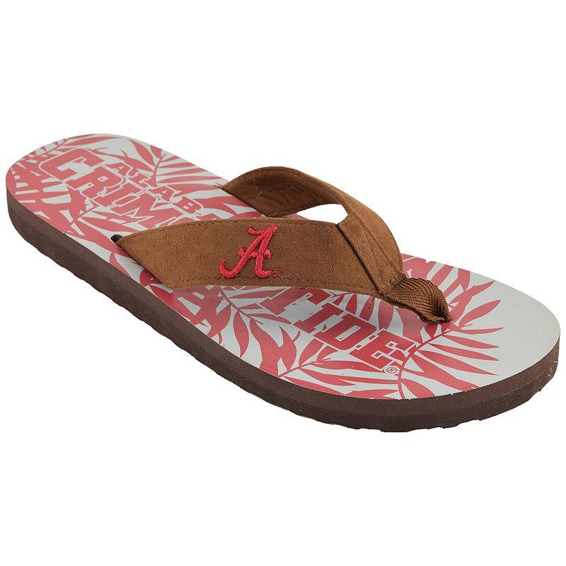 Men's Alabama Crimson Tide Tropical Flip-Flops
