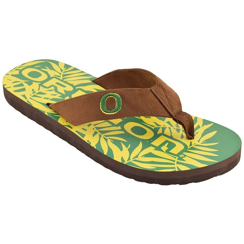 Men's Oregon Ducks Tropical Flip-Flops
