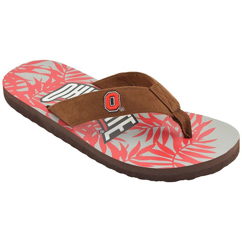 Men's Ohio State Buckeyes Tropical Flip-Flops