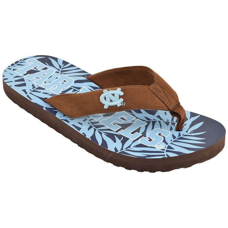 Men's North Carolina Tar Heels Tropical Flip-Flops