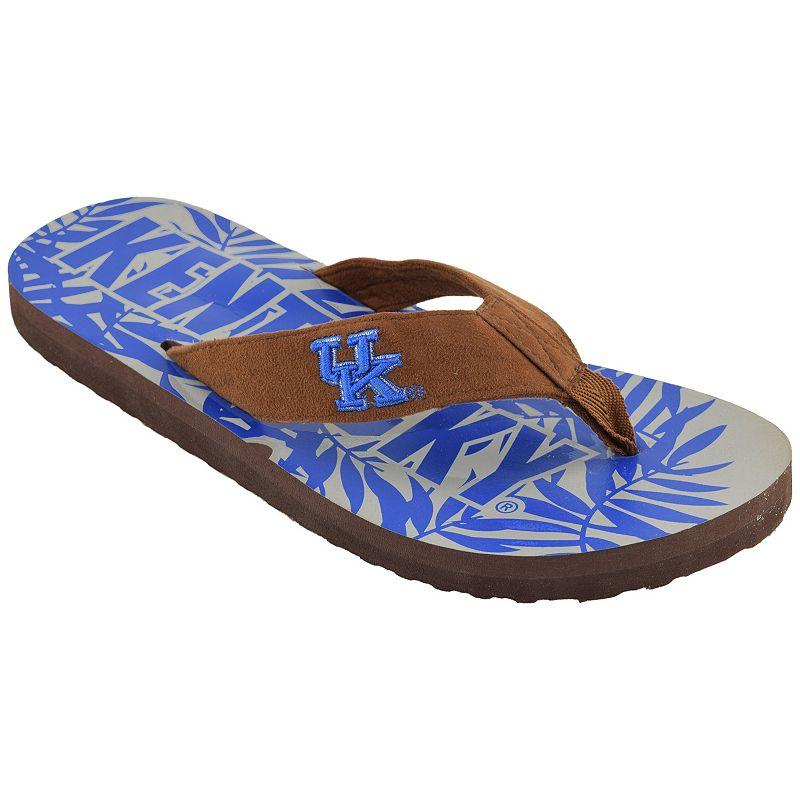 Men's Kentucky Wildcats Tropical Flip-Flops