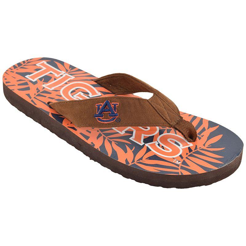 Men's Auburn Tigers Tropical Flip-Flops