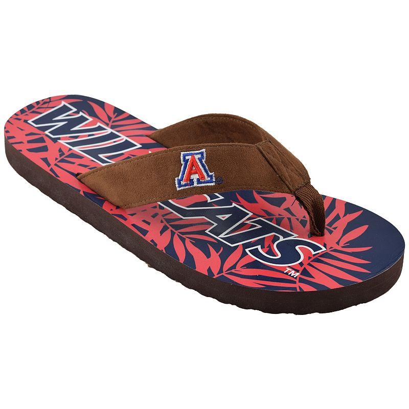 Men's Arizona Wildcats Tropical Flip-Flops