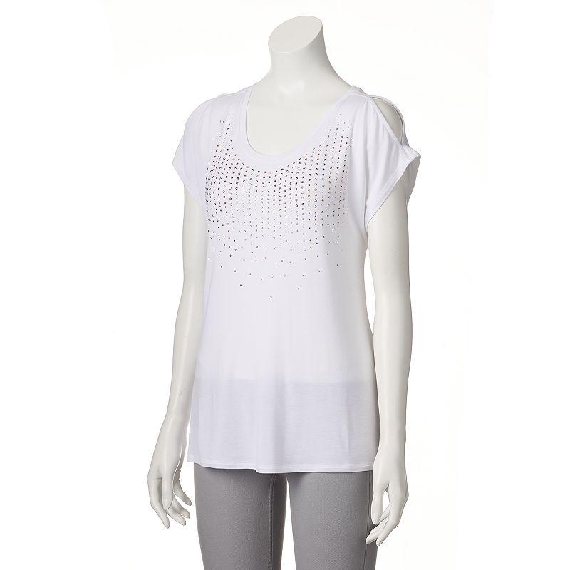 Women's Apt. 9® Studded Cold-Shoulder Tee