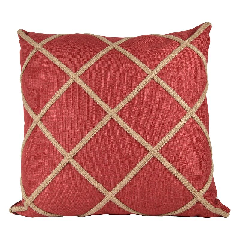 Crisscross Jute Throw Pillow