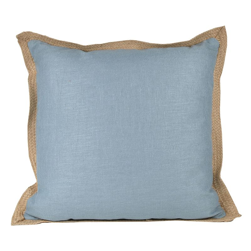 Jute Trim Throw Pillow
