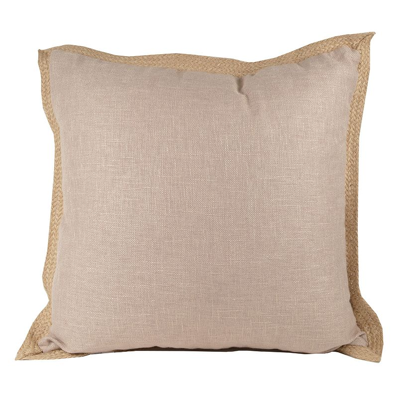 Jute Trim Throw Pillow DealTrend