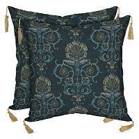 Bombay® Outdoors Anatolia Scroll Tassels Reversible Throw Pillow 2-piece Set