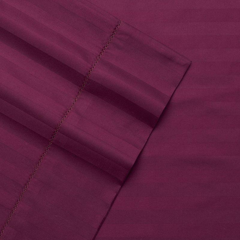 Andiamo Egyptian Cotton 4-piece 500 Thread Count Stripe Sheet Set