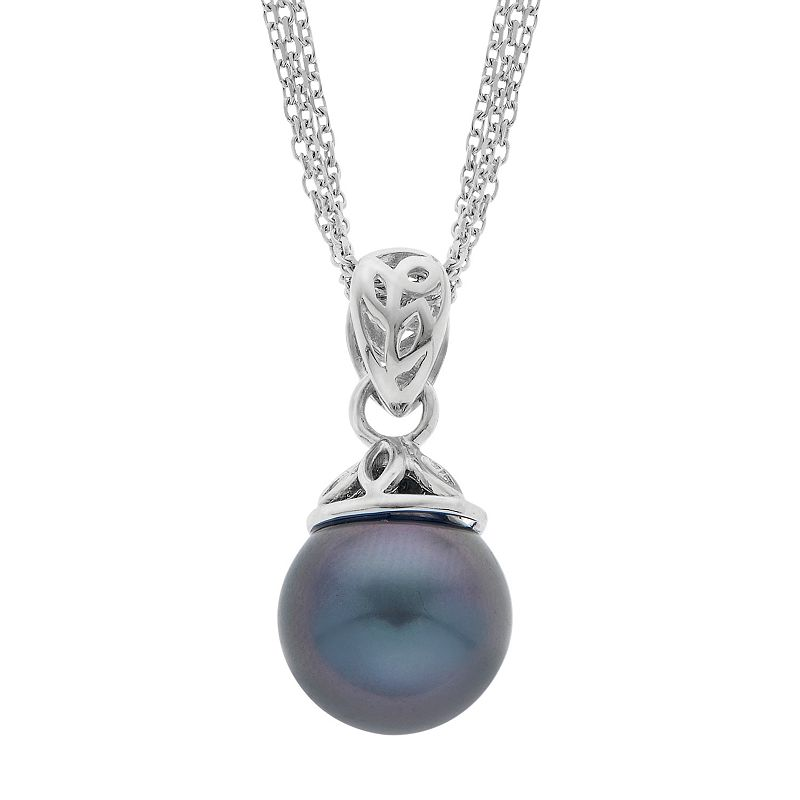 PearLustre by Imperial Sterling Silver Tahitian Cultured Pearl Pendant