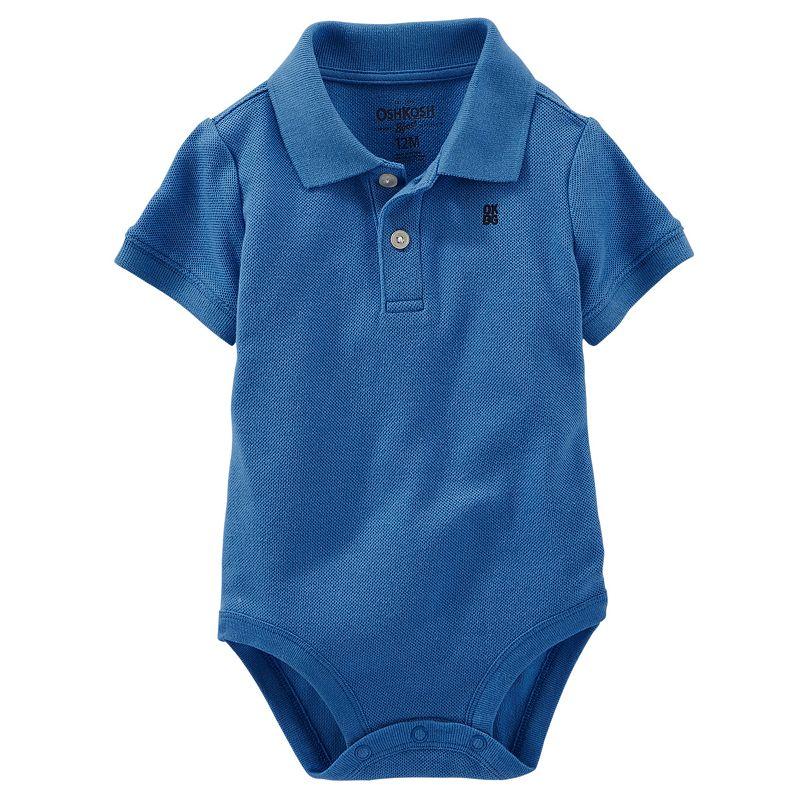 Baby Boy OshKosh B'gosh® Solid Polo Bodysuit