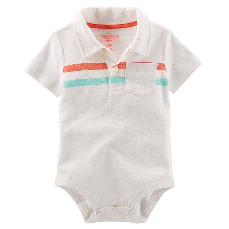Baby Boy OshKosh B'gosh® Striped Polo Bodysuit