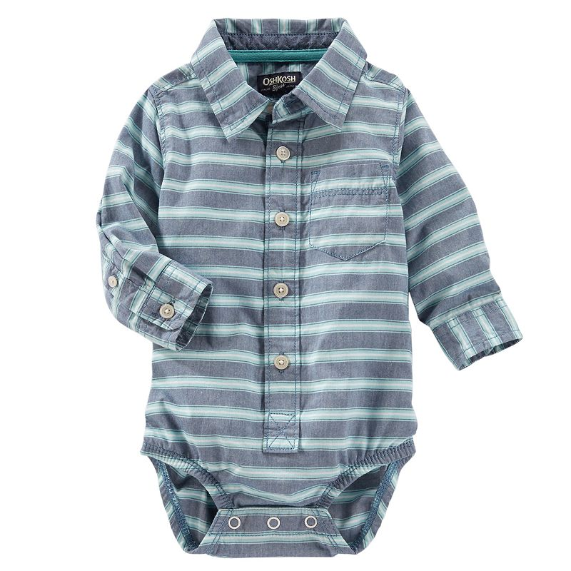 Baby Boy OshKosh B'gosh® Button-Down Bodysuit