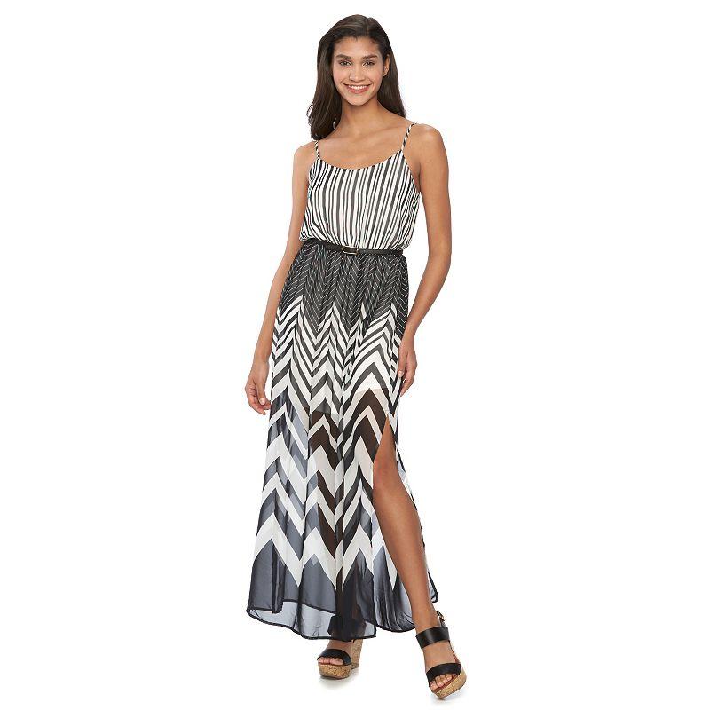 Juniors' Candie's® Chevron Maxi Dress