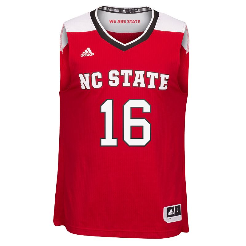 Men's adidas North Carolina State Wolfpack Replica Basketball Jersey