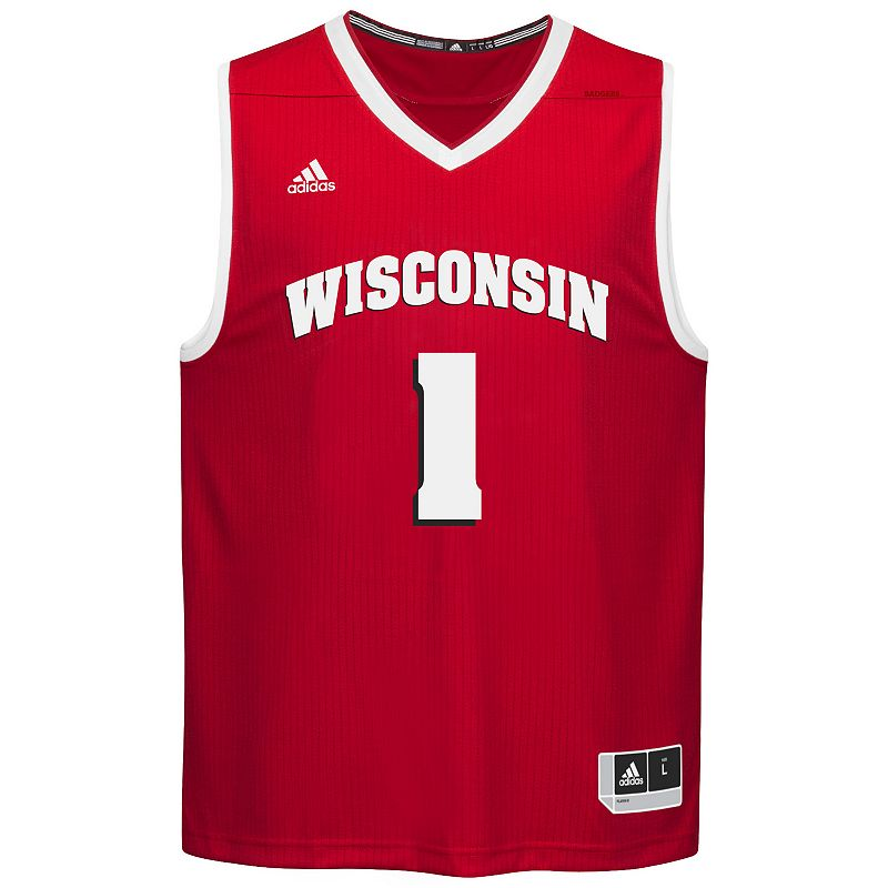 Men's adidas Wisconsin Badgers Replica Basketball Jersey