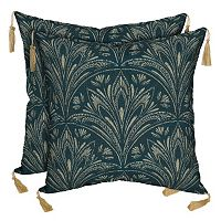 Bombay® Outdoors Royal Zanzibar Medallion Tassels Reversible Throw Pillow 2-piece Set