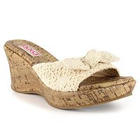 Dolce by Mojo Moxy Piper Women's Crochet Wedge Sandals