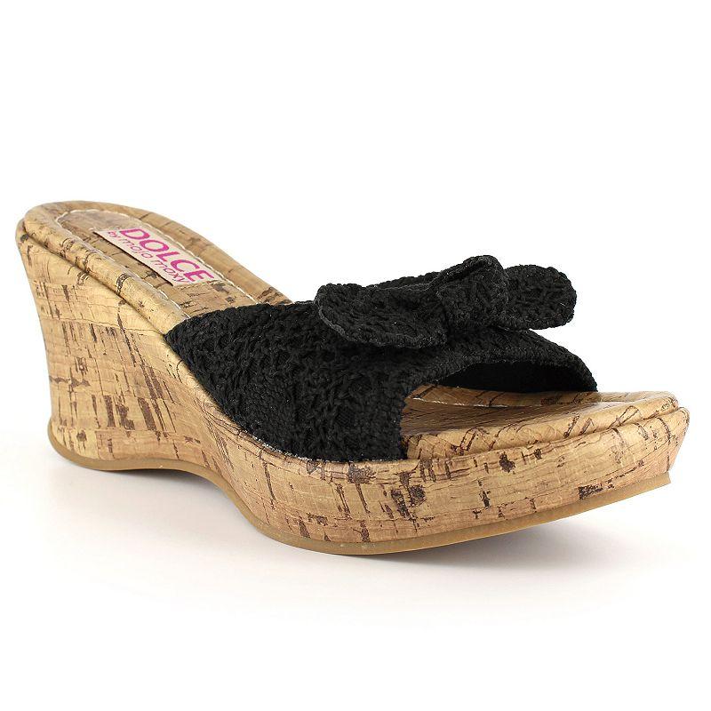 Dolce by Mojo Moxy Piper Women's Crochet Wedge Sandals