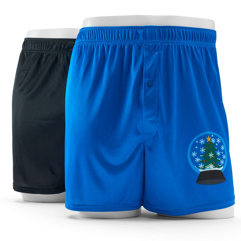 Men's 2-pack Holiday Microknit Boxers