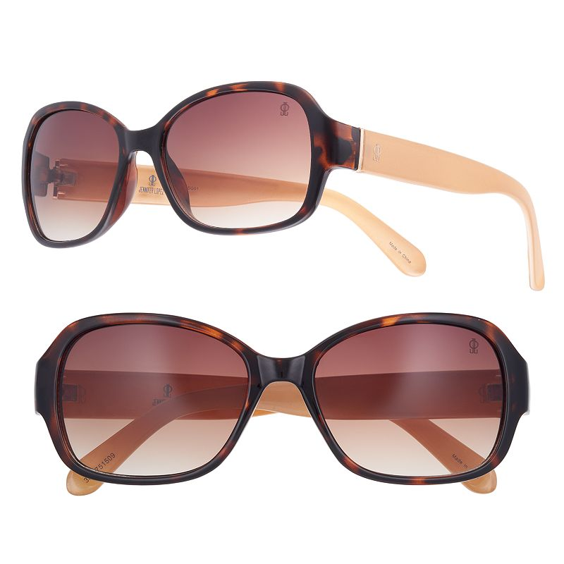 Women's Jennifer Lopez Becky Small Square Sunglasses