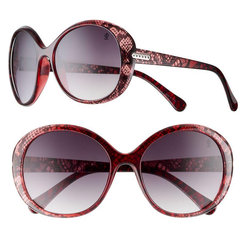 Women's Jennifer Lopez Shortbread Oversized Round Sunglasses