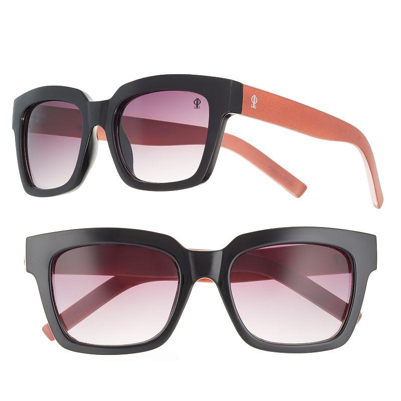 Women's Jennifer Lopez Huey Two-Tone Square Sunglasses