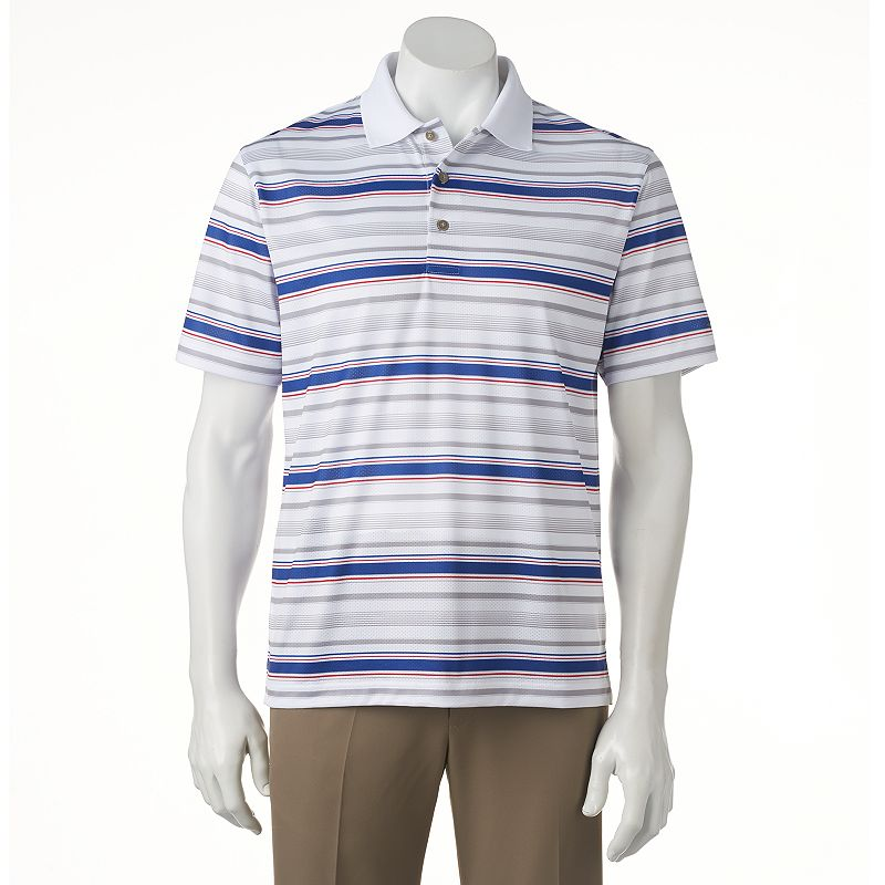 Men's Grand Slam Classic-Fit Airflow Striped Performance Golf Polo