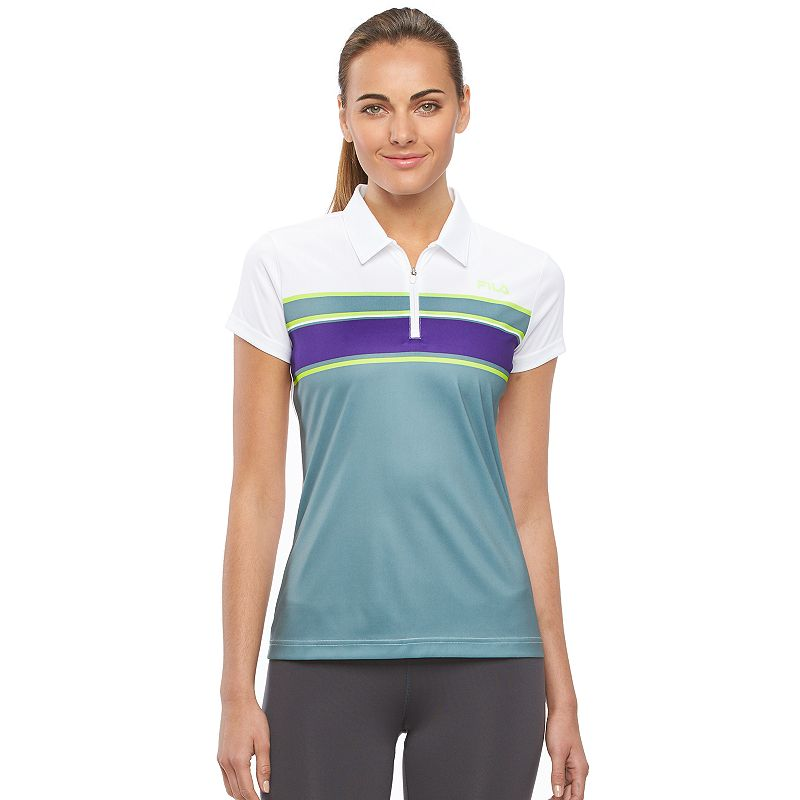 Women's FILA SPORT® Playful Striped Workout Polo