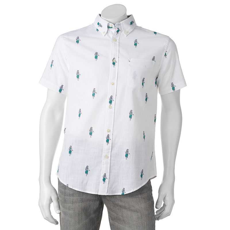 Men's SONOMA Goods for Life® Classic-Fit Slubbed Patterned Button-Down Shirt