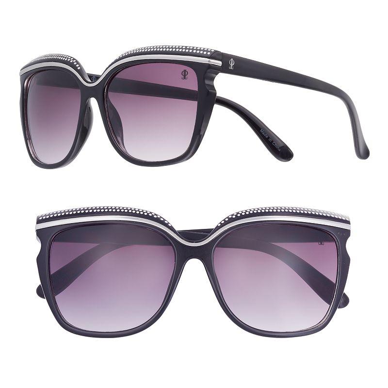 Women's Jennifer Lopez Sherbet Rhinestone Cat's-Eye Sunglasses