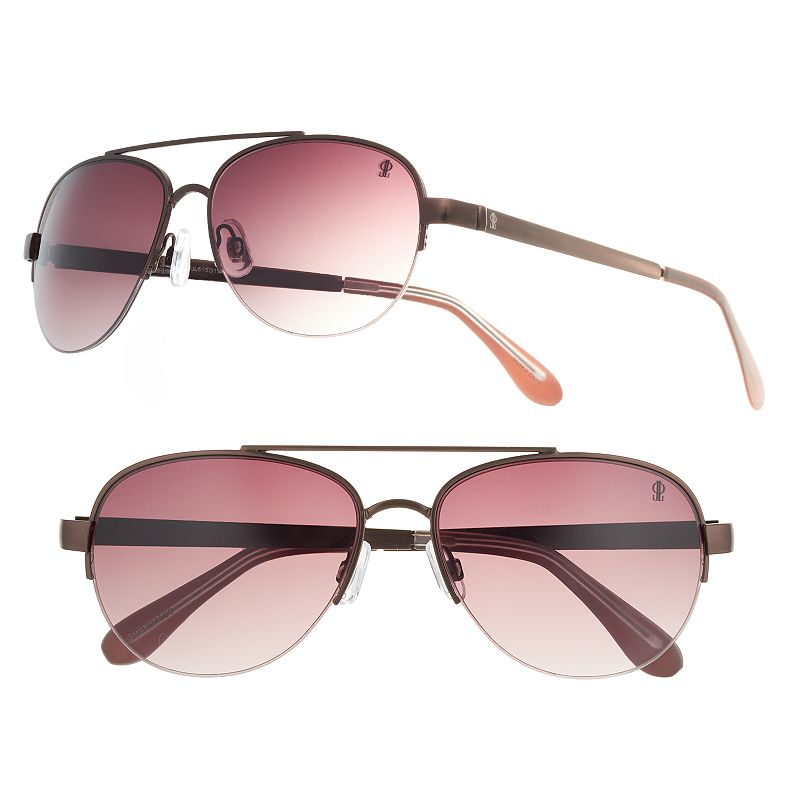 Women's Jennifer Lopez Reilly Semirimless Aviator Sunglasses