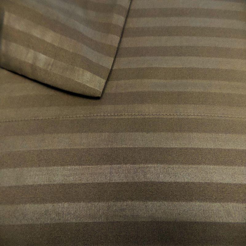 Fashion Street 800 Thread Count Striped Sheet Set