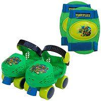 Kids Teenage Mutant Ninja Turtles Roller Skates & Knee Pads by Playwheels