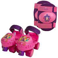 Disney Princess Kids Glitter Roller Skates & Knee Pads by Playwheels
